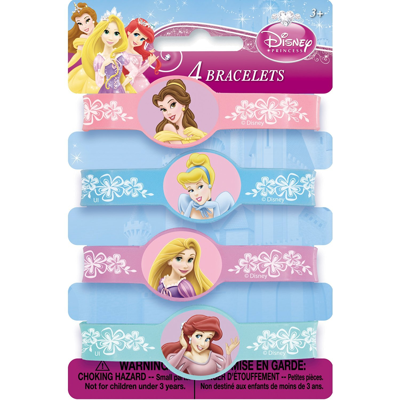 Disney Princess Rubber Bracelets [4 Per Pack]