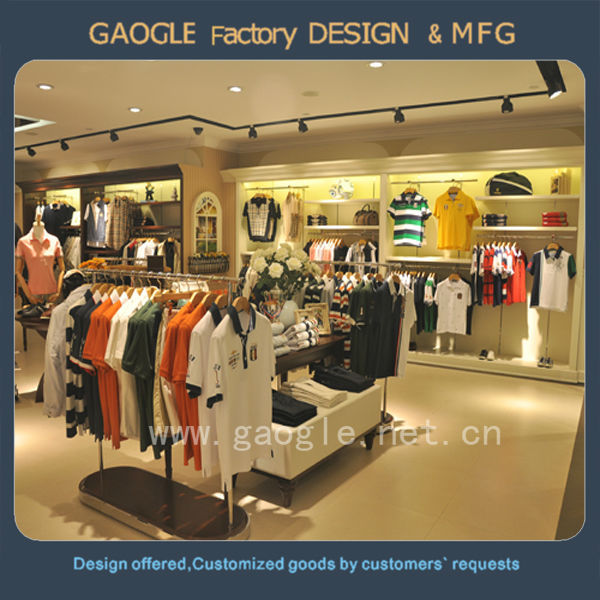 Baking Paint Modern Garment Shop Interior Design For Men Clothes ...