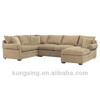 Linen Sectional Fabric 8 Seater Corner Sofa Set Designs
