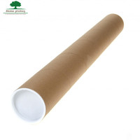 kraft mailing tube round cardboard boxes with plastic lid and plastic bottom shipping tube for poster