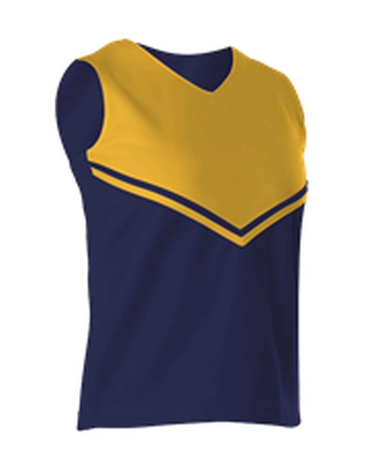 Alleson Cheer Girls Youth Cheerleading V Shell Top With Braid C101VY