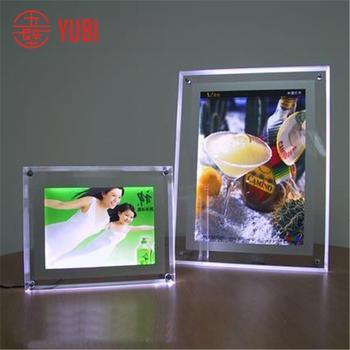 A4 Acrylic Led Light Display Stand - Buy Wall Mount Acrylic Sandwich ...