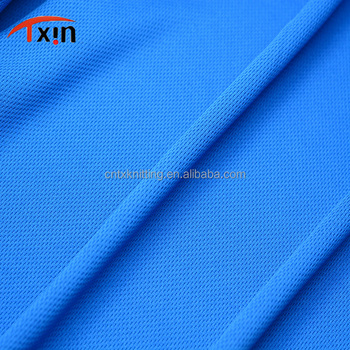 Tear resistant polyester knitted bird eye fabric for sportswear,factory direct cheap fabric