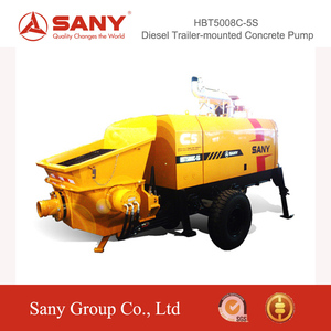 SANY HBT5008C-5S Diesel Trailer Mounted Concrete Pump with Advanced Hydraulic System Sany Concrete Pump 100M
