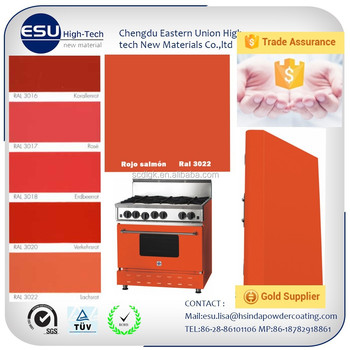 Free Sample Electrostatic Flat Gloss Ral3022 Salmon Pink Powder ...