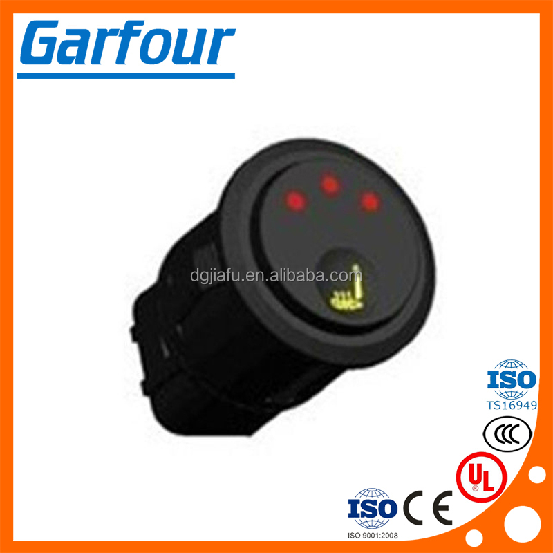 Auto seat heating switch auto mounted chair heating switch