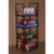 floor standing multi layers shelf  wire frame holder support fixture  tin packaged biscuits display rack