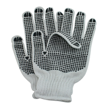 nano metre both sides PVC dots knitted polycotton construction gloves