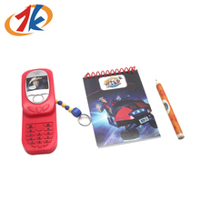 Promotional Plastic Mini Sliding Phone Toys With Keychain Stationery Set For Kids