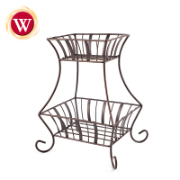 Kitchen Storage 2 Tier Metal Countertop Fruit Basket