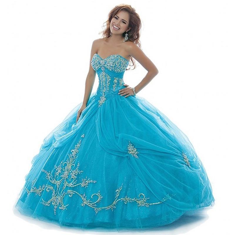 fc1dc936c15 Get Quotations · Top Quality Sweetheart Neckline Appliqued Blue Ball Gown  Quinceanera Dresses Sweet 16 Dresses Vestidos De Quinceaneras