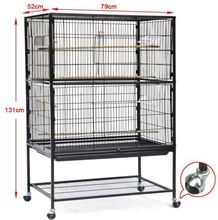 Parrot Cockatiel Concure Small Pets Large Bird Cage Perch Feed Stand Rack Wheels
