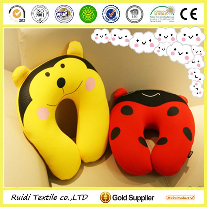 kids microbeads neck roll pillow travel neck pillow animal decoration u shape pillow