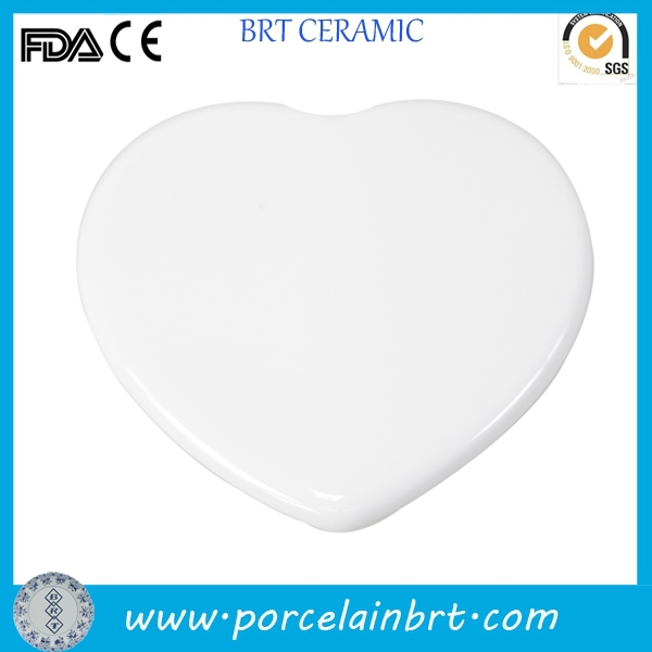 Heart blank white paint your own Ceramic Sublimation Ornament