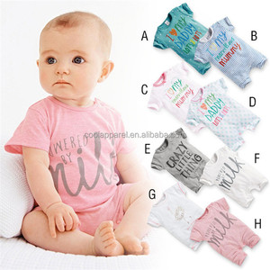 baby clothes summer wear romper bulk printed newborn baby clothes