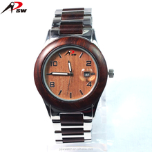 New arrival natural wood and stainless steel watches