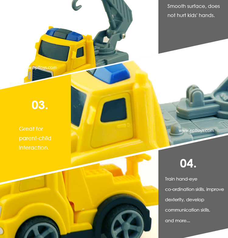 2019 New Arrival Children Friction Crane Construction Truck Toy