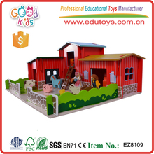 Preschool Educational Puppets Animal Gates Wooden Toys Farm House