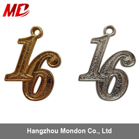 size can be customized gold plated graduation year charms 2016