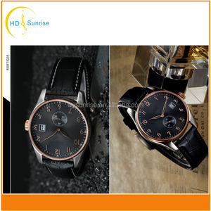 high quality leather custom analog fastrack wrist watch for men from watch manufacturer