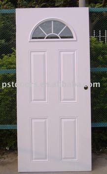 high definition 4 panel door fan lite external grille with clear glass buy door steel door. Black Bedroom Furniture Sets. Home Design Ideas