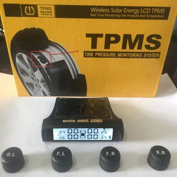 TPMS Tyre Pressure Monitoring System Solar Power Monitor Wireless LED Display 4 External Sensor Passenger Car tire