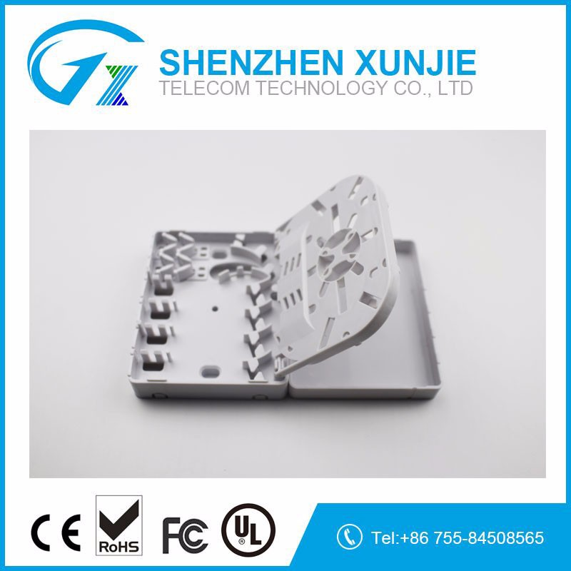Supply 4 core outdoor FTTH optical cable terminal box For SC, FC, E2000 adaptor