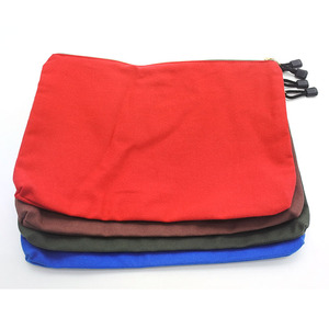 Promotion bulk cheap durable canvas zipper tool bags