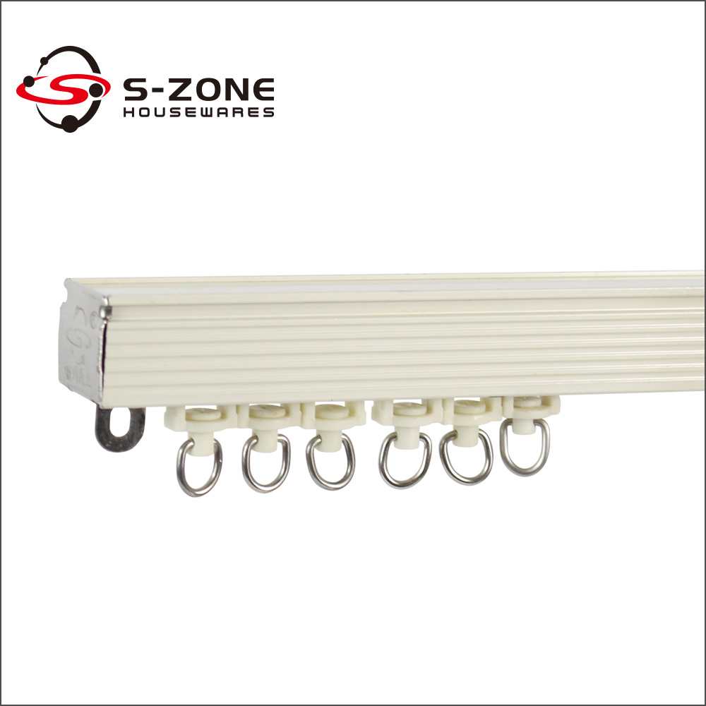 Ceiling mounted curtain track system - Sliding Rail Ceiling Mounted Curtain Track System Ceiling Drapery Track System