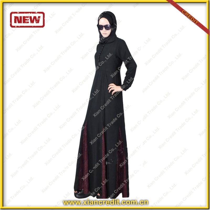 5fefecc5aefa5 الجملة الملابس العباءة في دبي القفطان العباءة الإسلامية باكستان كراتشي أسود  طويل كم فستان