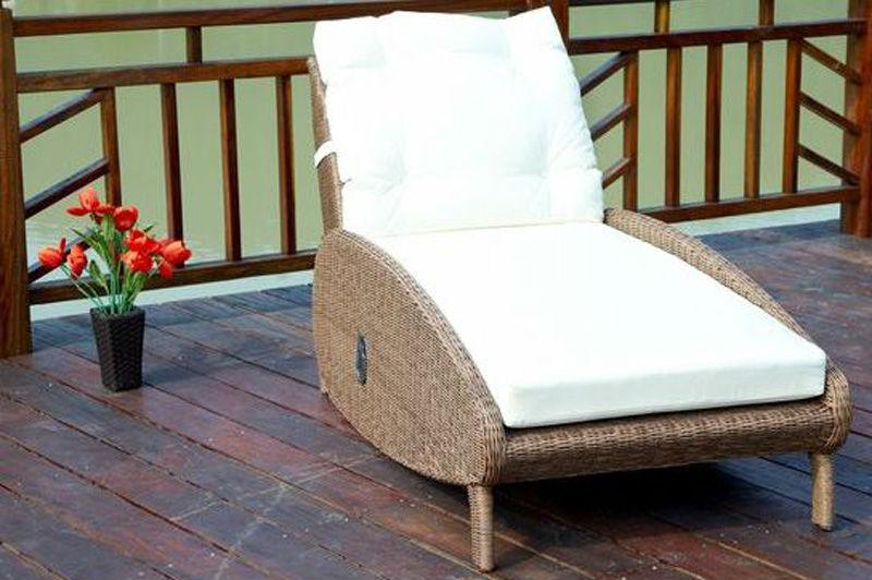 Pe rotan rieten ligstoel buiten daybed tuin lounge rotan for Ligstoel buiten