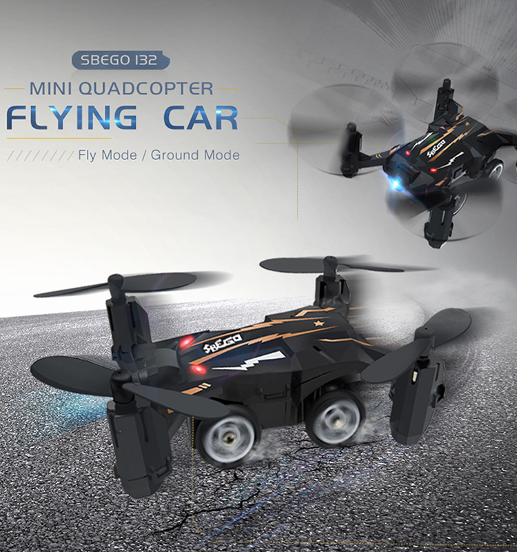 1. SBEGO_132_Black_Mini_Flying_Car_Drone_Mini_Pocket_Drone