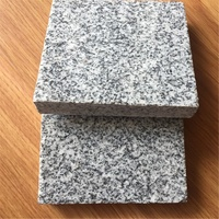 Light grey granite g603 bush hammered surface for outside floor