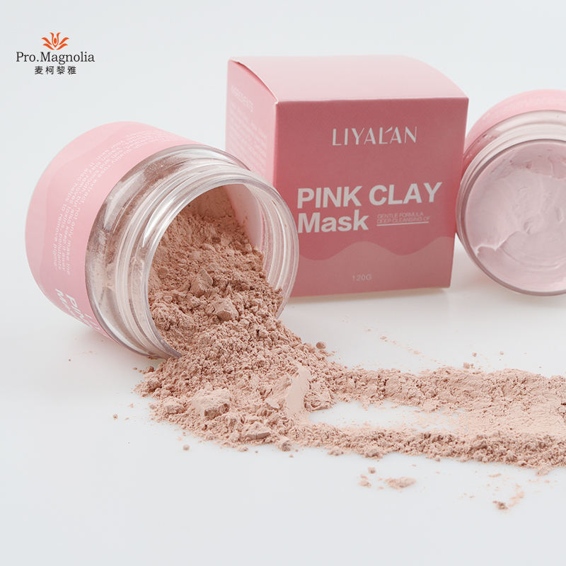 Private label deep pore cleansing French Pink clay face mask