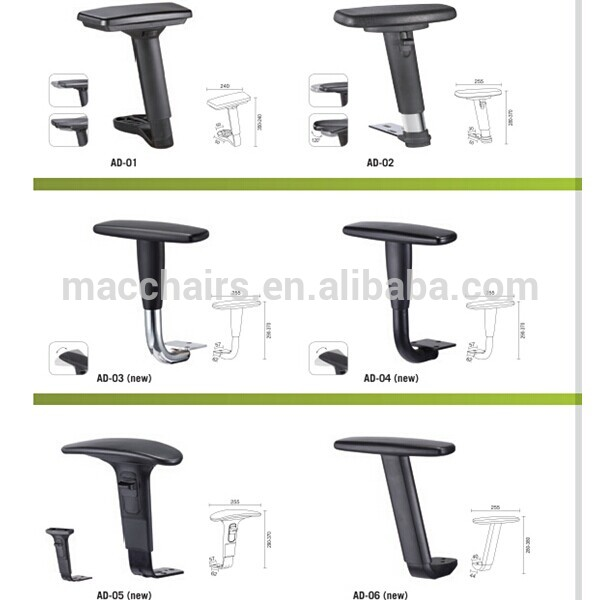 Newly 3d Function Adjustable Armrest With Pu Pad Ad-17a