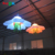 Hot giant party decoration led inflatable lighting flower with chain