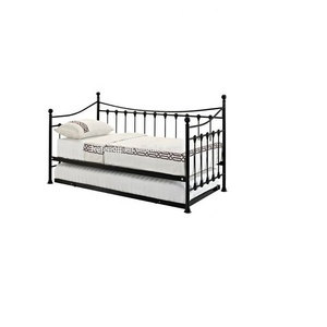 modern extension metal wrought iron divan day bed with trundle