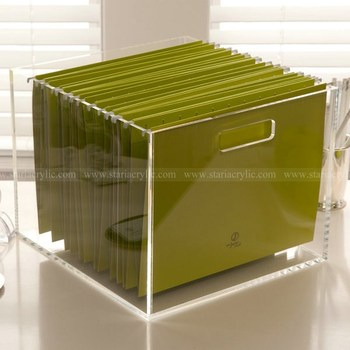 Acrylic Collator Desktop File Organizer Clear Dispenser