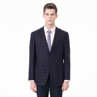 2018 New Men's Fashion bespoke Plaid Wedding Dress Suit Formal Business Casual Suits Wholesale Factory Price OEM