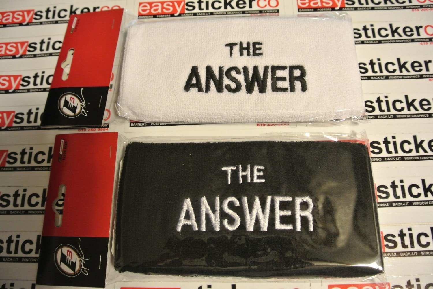 20309cbd40f0 Get Quotations · Allen Iverson THe Answer Elbow Band white