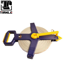100m/330ft adjustable bule rounded portable fiberglass measuring tape