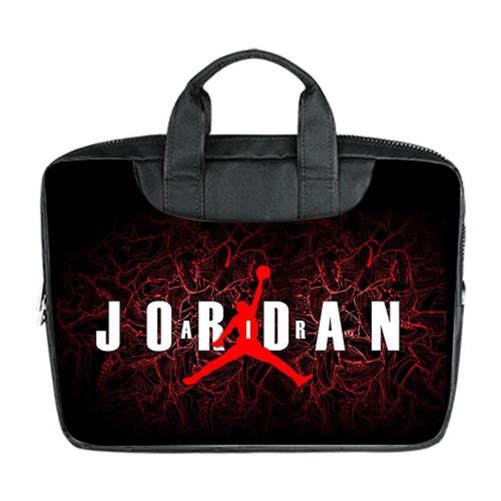 0b06e6235517ab JOJO custom laptop bag Michael Jordan Logo computer handbags for 15.6 inch  messenger bag office easy