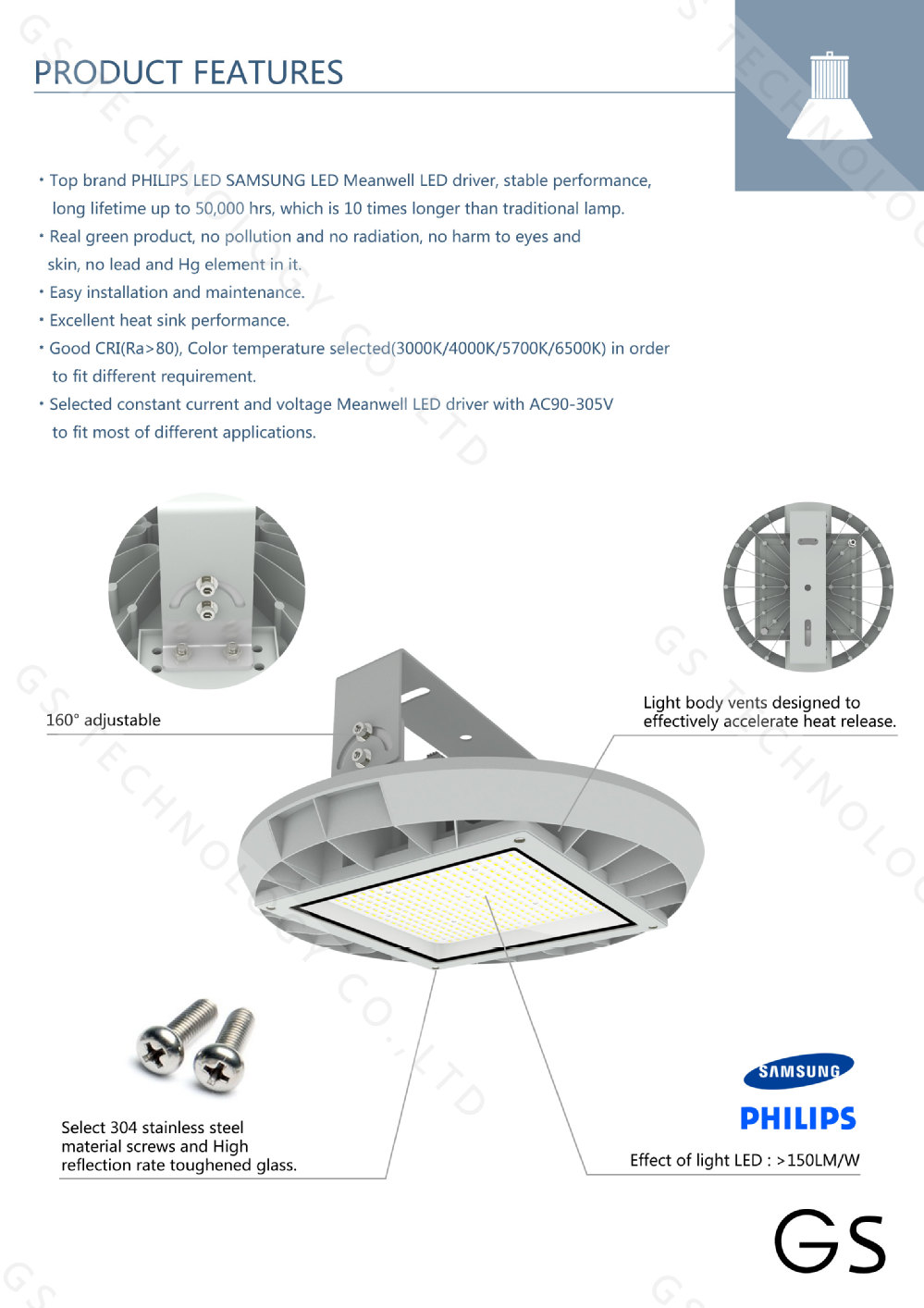 2015 New Round Shallow Shaped Ufo Led High Bay Light With Lm80 ...