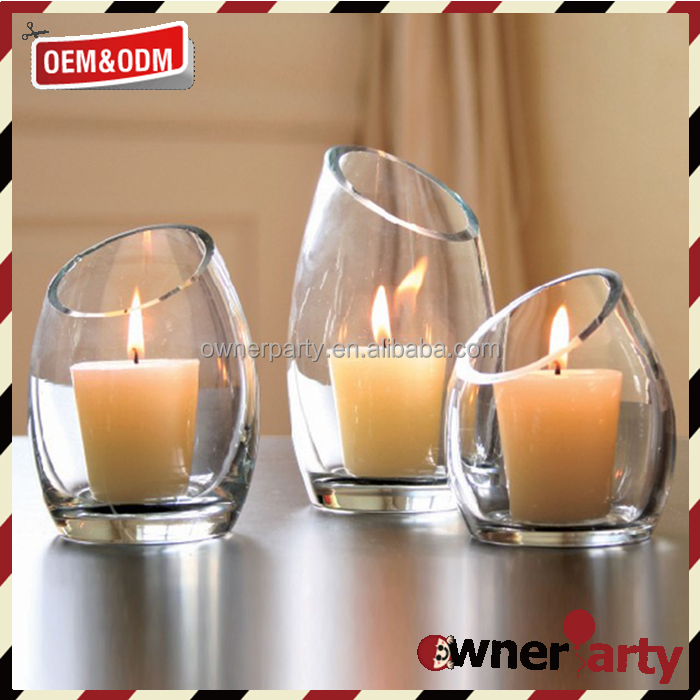 Fancy Style Custome Glass Clear Votive Candle Holders