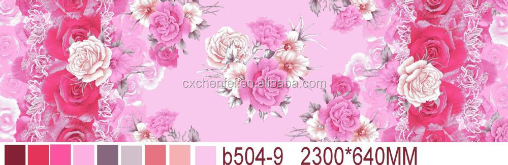 100% polyester daisy printed dubai fabric from changxing chen