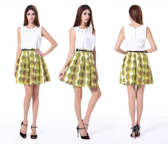 Fashion Union Black Pleated Mini Skirt
