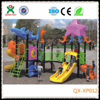 Top quality plastic slide tree house, used kids outdoor toys, kids play items XP-012