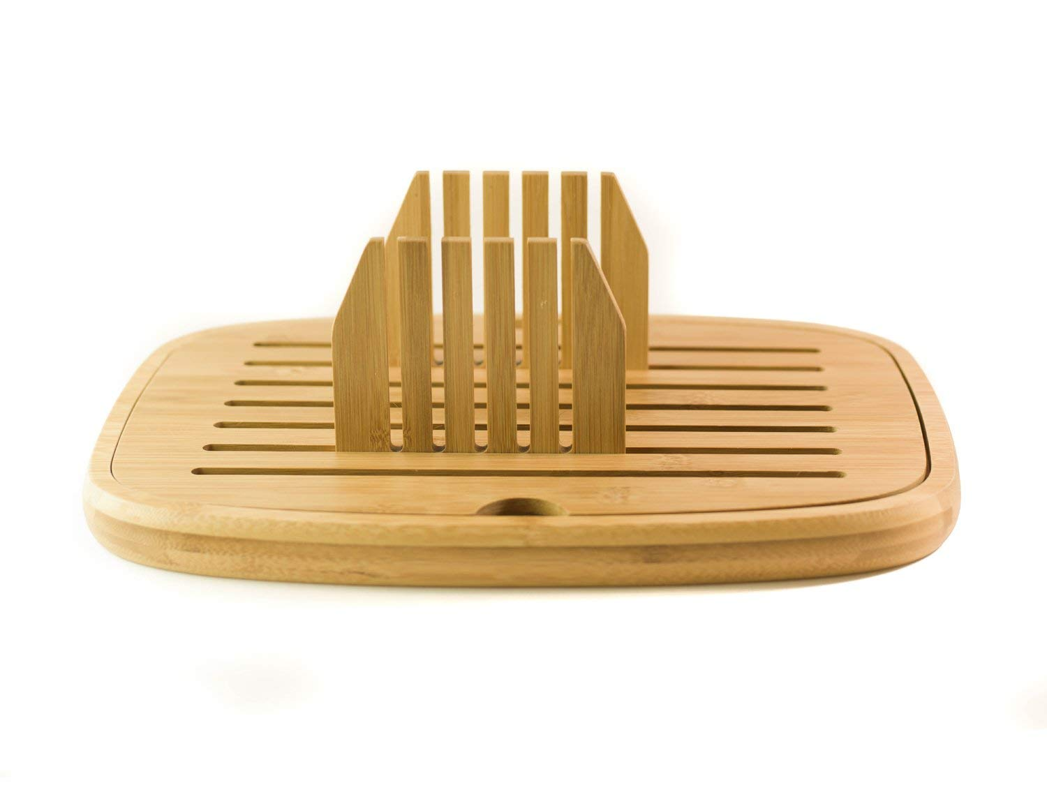 Bread Slicer - Bread Cutter - Foldable Bread Slicer | Bamboo Wood | Easy Storage