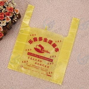 0.03mm Transparent t-shirt plastic bag vest handles bags for sale
