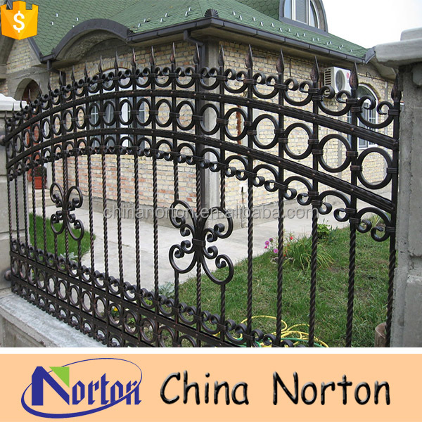 Customized High Quality Iron Garden Barrier Fence Panels For Sale NT CIB004